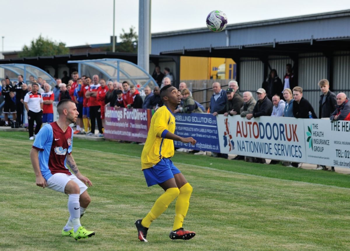 Flavio Pereira Da Veiga during the match against South Shields. Photograph by Simon Mears.