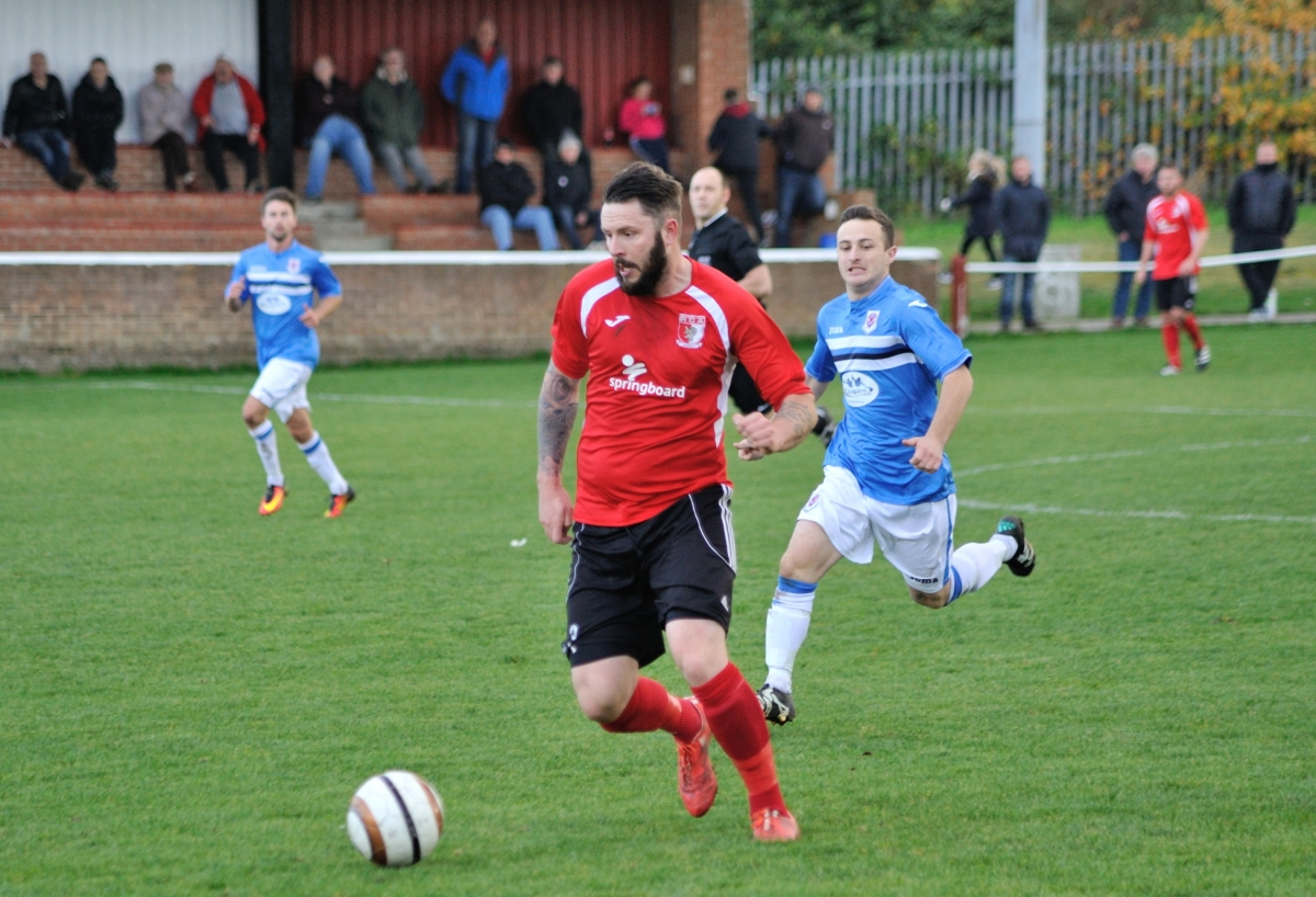 Addsy on the attack during the match against Seaham Red Star.