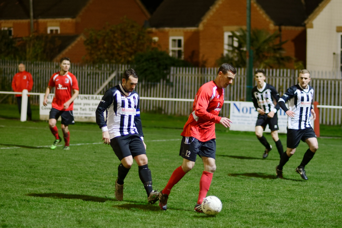 Colin Larkin in action during the League Cup match against Northallerton Town. Photograph by Simon Mears.