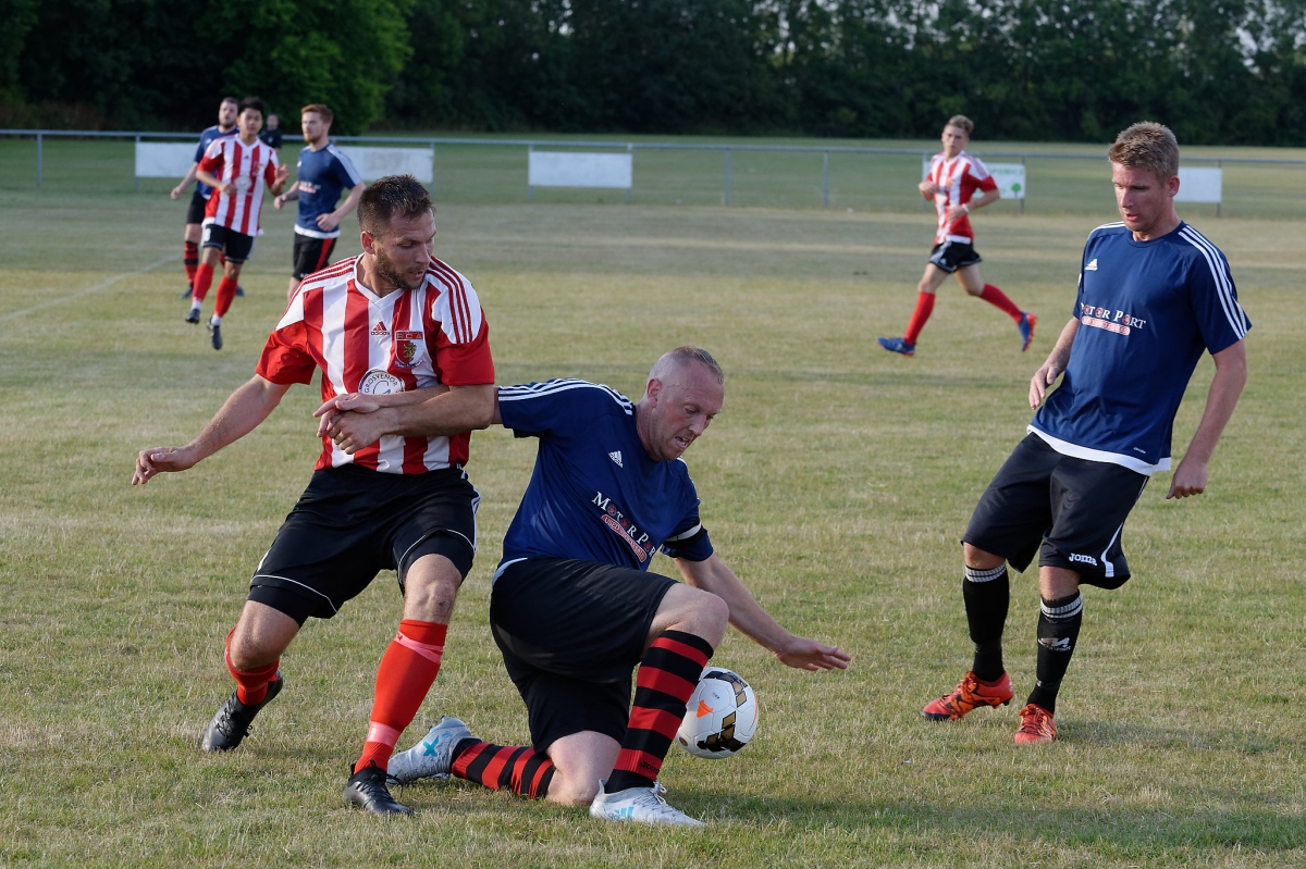 Mark Davidson in action in the pre season friendly against AFC Killingworth